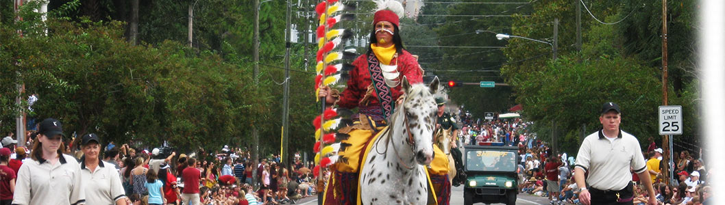 Chief Osceola on Renegade at the Homecoming parade